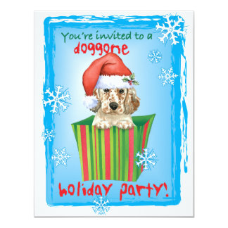 Happy Howlidays English Setter 11 Cm X 14 Cm Invitation Card