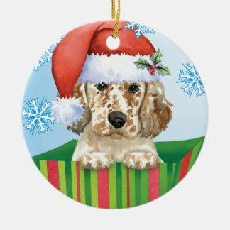 Happy Howlidays English Setter Christmas Ornament