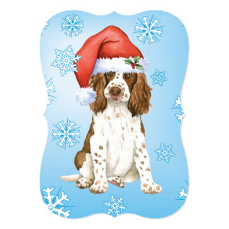 Happy Howlidays English Springer Spaniel 13 Cm X 18 Cm Invitation Card