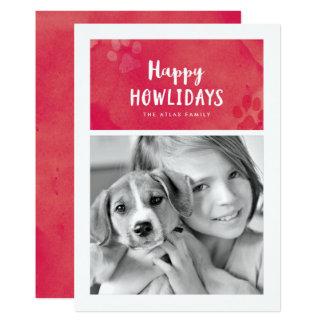 Happy Howlidays Holiday Photo Card