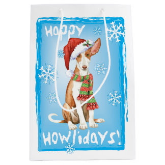 Happy Howlidays Ibizan Hound Medium Gift Bag