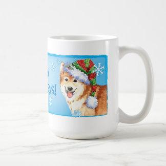 Happy Howlidays Icelandic Sheepdog Coffee Mug