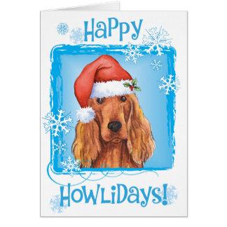 Happy Howlidays Irish Setter Card