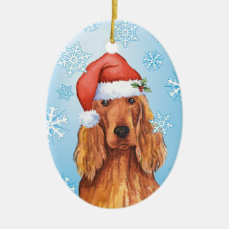 Happy Howlidays Irish Setter Christmas Ornament