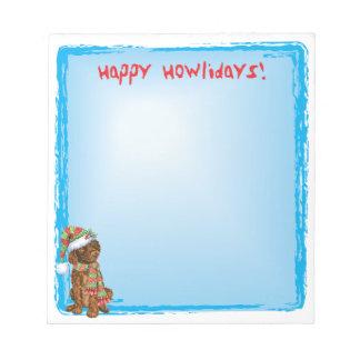 Happy Howlidays Irish Water Spaniel Notepads