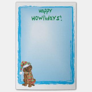 Happy Howlidays Irish Water Spaniel Post-it Notes