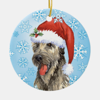 Happy Howlidays Irish Wolfhound Christmas Ornament