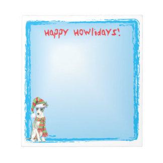 Happy Howlidays Italian Greyhound Notepad