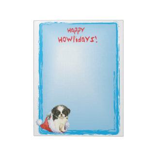 Happy Howlidays Japanese Chin Notepads