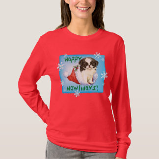 Happy Howlidays Japanese Chin T-Shirt