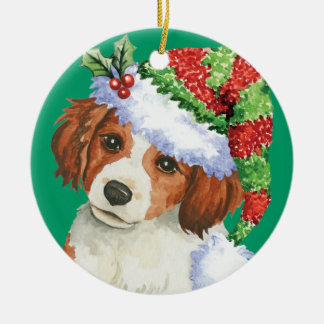 Happy Howlidays Kooikerhondje Christmas Ornament