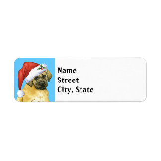 Happy Howlidays Mastiff Return Address Label