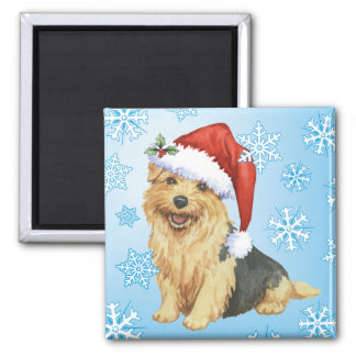 Happy Howlidays Norfolk Terrier Square Magnet