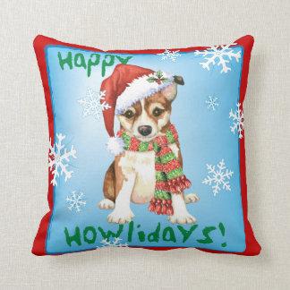Happy Howlidays Norwegian Lundehund Cushion