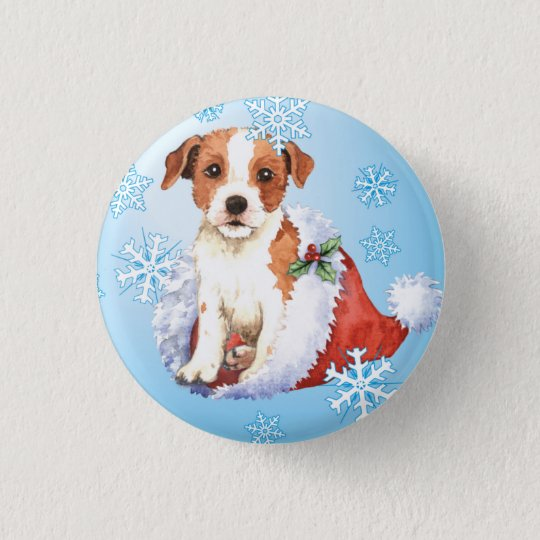 Happy Howlidays Parson Russell Terrier 3 Cm Round Badge