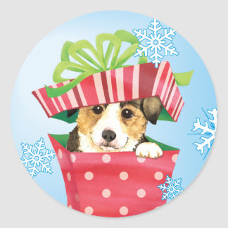 Happy Howlidays Pembroke Welsh Corgi Classic Round Sticker