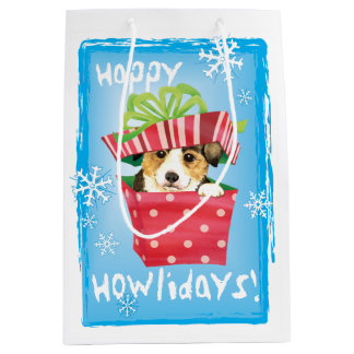 Happy Howlidays Pembroke Welsh Corgi Medium Gift Bag