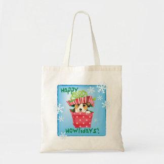 Happy Howlidays Pembroke Welsh Corgi Tote Bag