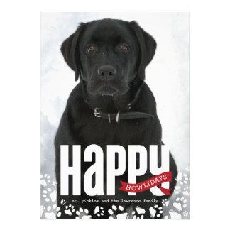 Happy Howlidays Pet Christmas Photo Card