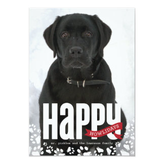 Happy Howlidays Pet Christmas Photo Card Invitations