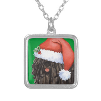 Happy Howlidays Puli Silver Plated Necklace