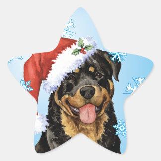 Happy Howlidays Rottweiler Star Sticker