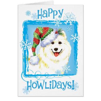 Happy Howlidays Samoyed Card