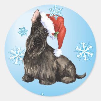 Happy Howlidays Scottish Terrier Classic Round Sticker