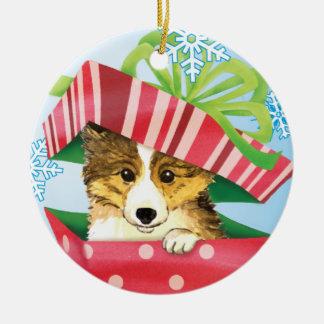 Happy Howlidays Sheltie Christmas Ornament