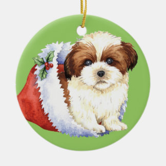 Happy Howlidays Shih Tzu Christmas Ornament
