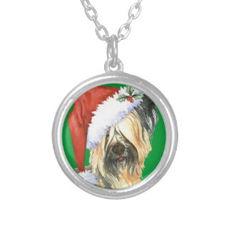 Happy Howlidays Skye Terrier Silver Plated Necklace