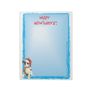 Happy Howlidays Smooth Fox Terrier Notepad