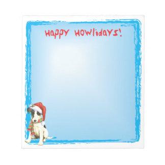 Happy Howlidays Smooth Fox Terrier Notepad