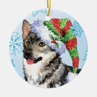Happy Howlidays Swedish Vallhund Christmas Ornament