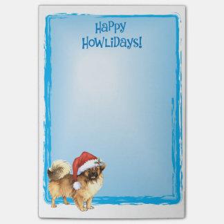 Happy Howlidays Tibetan Spaniel Post-it Notes