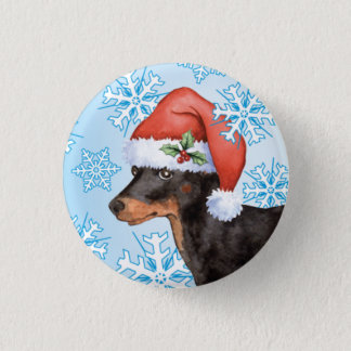 Happy Howlidays Toy Manchester Terrier 3 Cm Round Badge