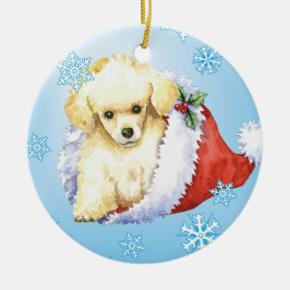Happy Howlidays Toy Poodle Christmas Ornament