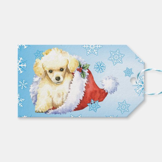 Happy Howlidays Toy Poodle Gift Tags