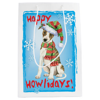 Happy Howlidays Whippet Medium Gift Bag