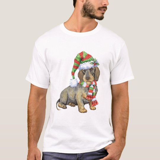 Happy Howlidays Wirehaired Dachshund T-Shirt