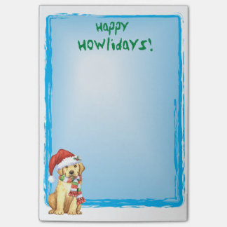 Happy Howlidays Yellow Lab Post-it® Notes
