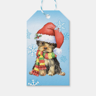 Happy Howlidays Yorkie Gift Tags