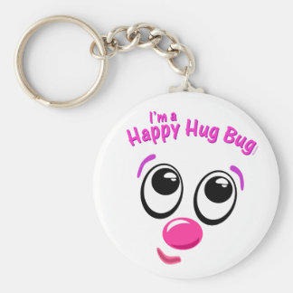 Happy Hug Bug Basic Round Button Key Ring