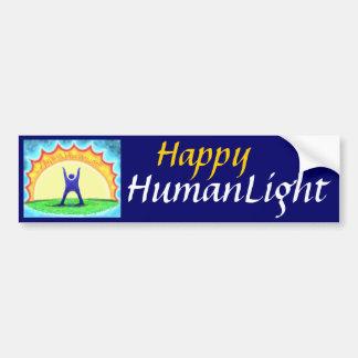 Happy HumanLight Bumper Stickers