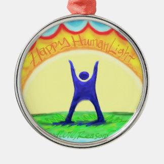 Happy HumanLight Christmas Ornament