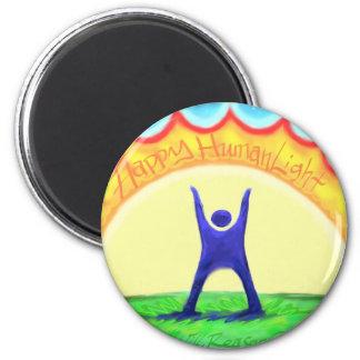 Happy HumanLight.jpg 6 Cm Round Magnet