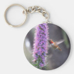 Happy hummingbird basic round button key ring