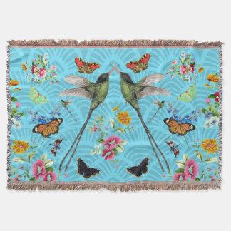 Happy Hummingbird Spirit Animal Throw Blanket