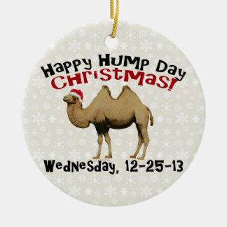 Happy Hump Day Christmas Funny Wednesday Camel Christmas Ornament