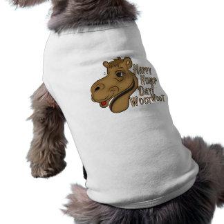 Happy Hump Day Woot Woot Sleeveless Dog Shirt